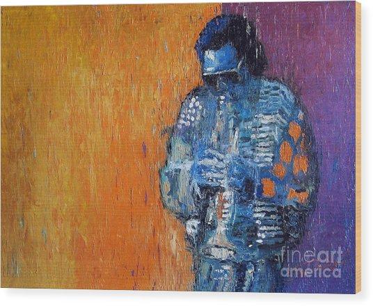 Jazz Miles Davis 2 Wood Print