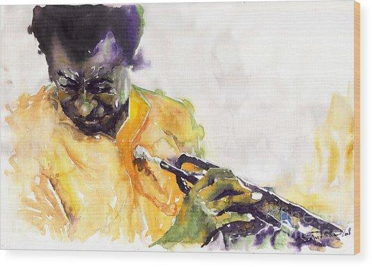 Jazz Miles Davis 7 Wood Print