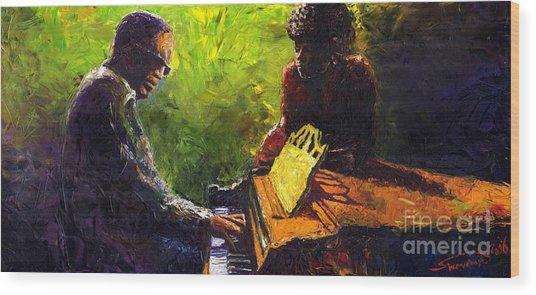 Jazz Ray Duet Wood Print