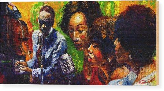 Jazz  Ray Song Wood Print