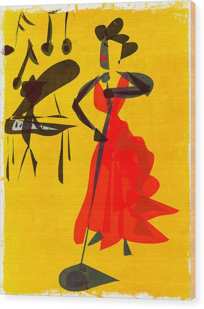 Jazz Review Wood Print by Betsey Walker Culliton