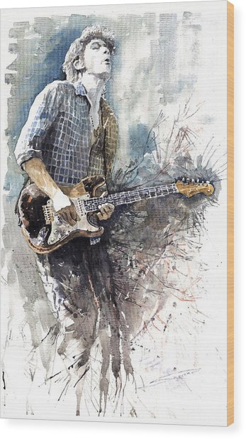 Jazz Rock John Mayer 05  Wood Print
