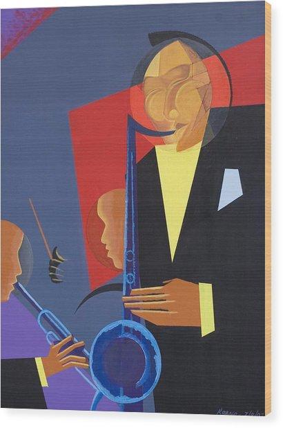 Jazz Sharp Wood Print
