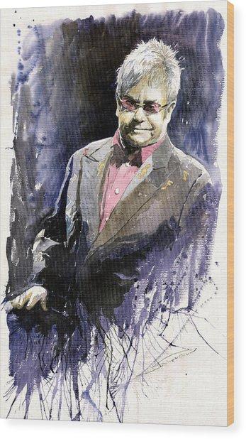 Jazz Sir Elton John Wood Print