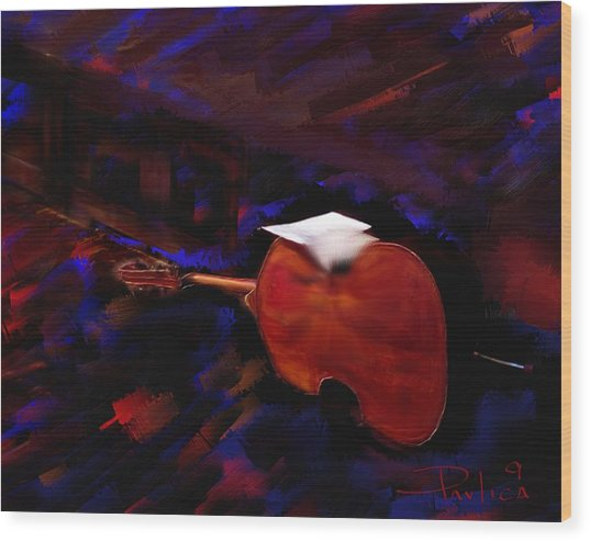Jazz Tribute Louis Armstrong Wood Print by Donald Pavlica