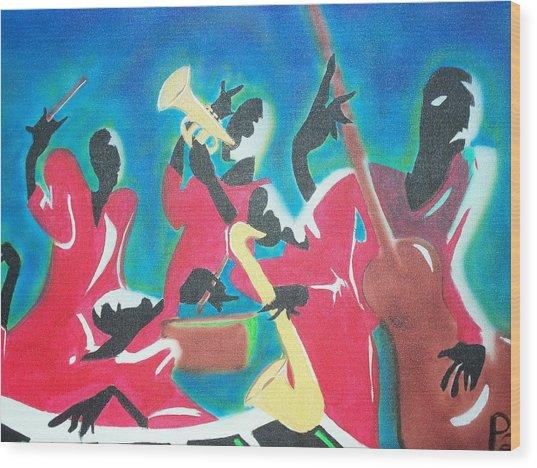 Jazz'en It Up Wood Print
