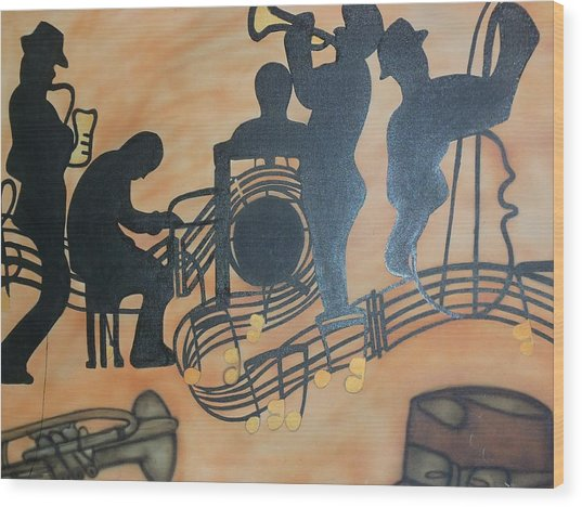 Jazzy Wood Print