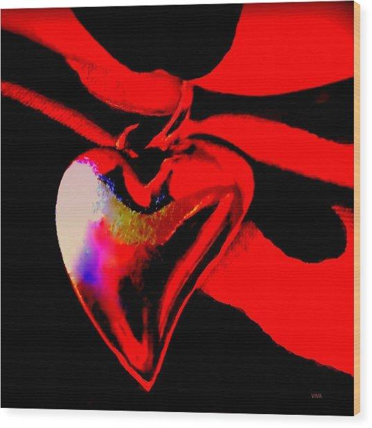 Je T'aime A La  Folie  - Valentine   Dedicated Wood Print