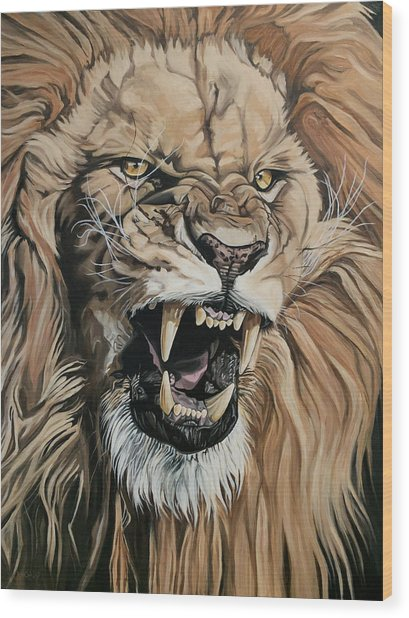 Jealous Roar Wood Print