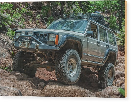 Jeep Cherokee Wood Print