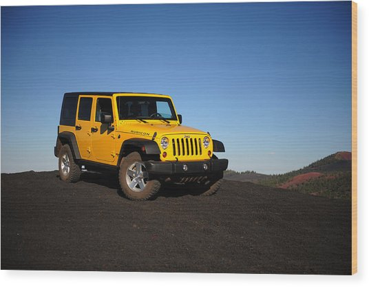 Jeep Rubicon In The Cinders Wood Print