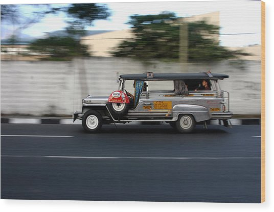 Jeepney 4 Wood Print by Jez C Self