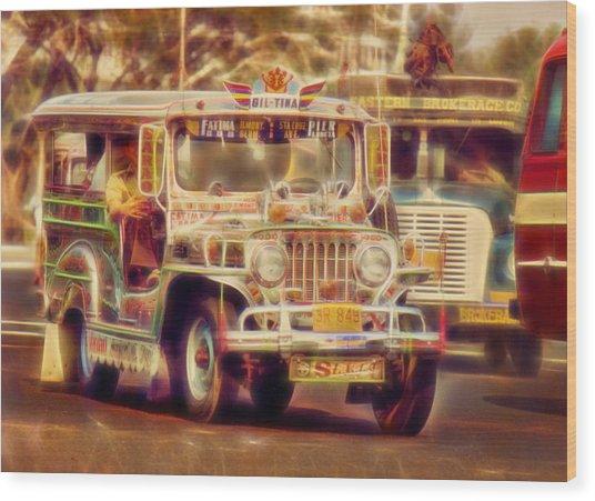 Jeepney Manila Wood Print