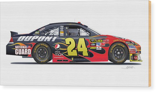 Jeff Gordon Nascar Image Wood Print