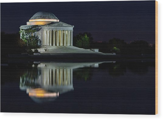 The Jefferson At Night Wood Print