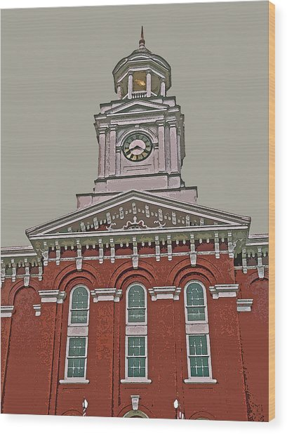 Jefferson County Courthouse Wood Print