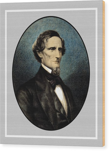 Jefferson Davis Wood Print
