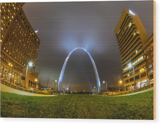 Wood Print featuring the photograph Jefferson Expansion Memorial Gateway Arch by Matthew Chapman