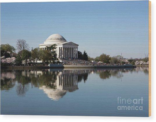 Jefferson Memorial Cherry Blossom Festival Wood Print