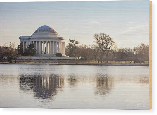 Jefferson Morning Wood Print