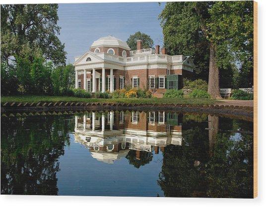 Jefferson Reflects Wood Print