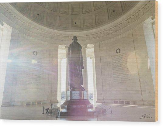 Jefferson Sunlight Wood Print