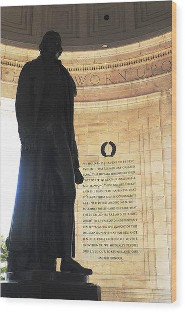 Jefferson's Words Wood Print