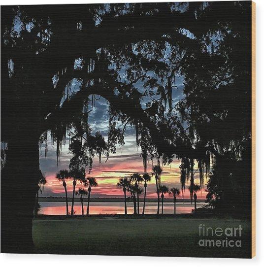 Jekyll Island Georgia Sunset Wood Print