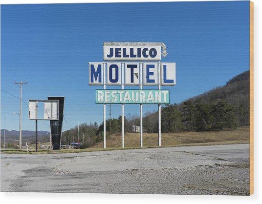 Jellico Motel Wood Print