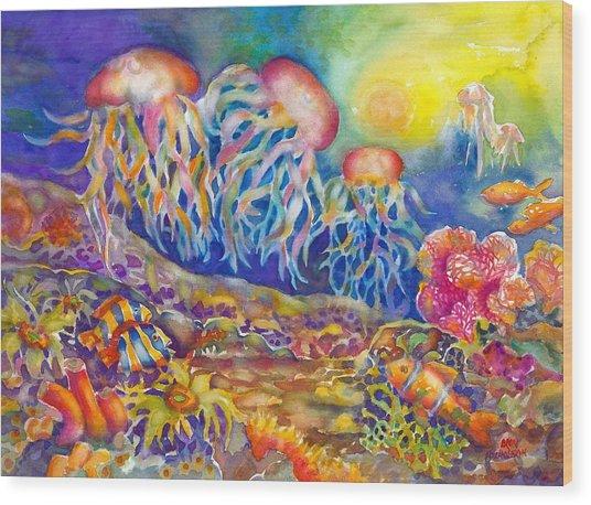 Jellies Wood Print