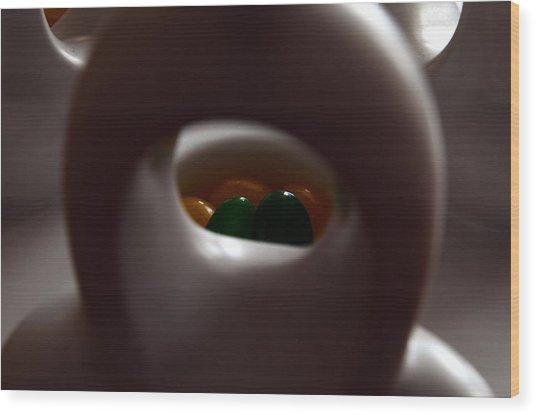 Jelly Bean Buddha Wood Print