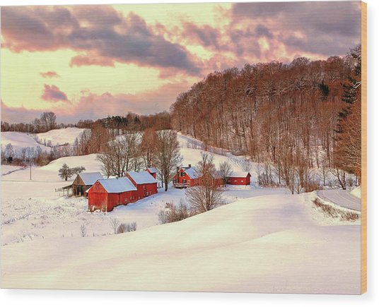 Jenne Farm After The Storm Wood Print