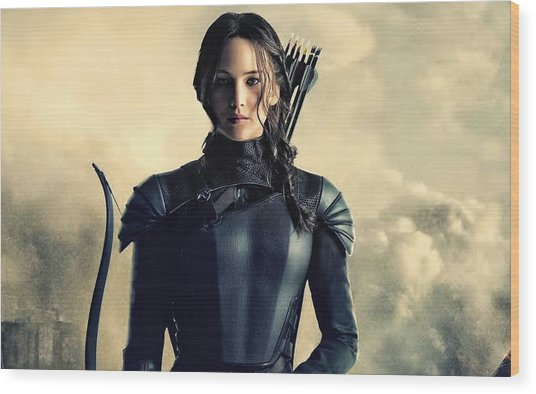 Jennifer Lawrence The Hunger Games  2012 Publicity Photo Wood Print