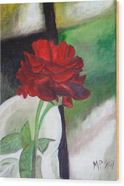 Jennifers Rose Wood Print by Madeleine Prochazka
