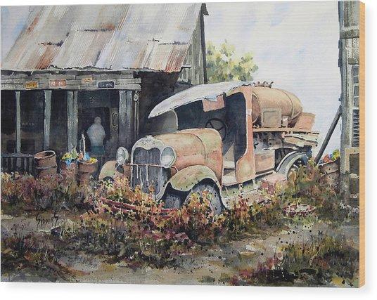 Jeromes Tank Truck Wood Print