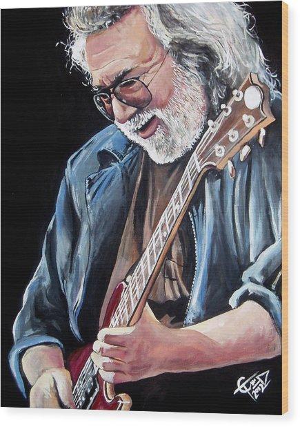 Jerry Garcia - The Grateful Dead Wood Print