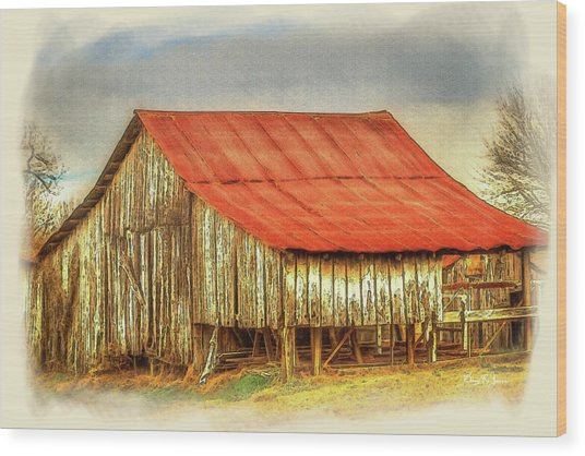 Wood Print featuring the photograph Jerry's Barn by Barry Jones