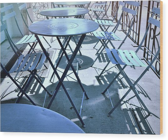 Jersey City Cafe Wood Print by JAMART Photography