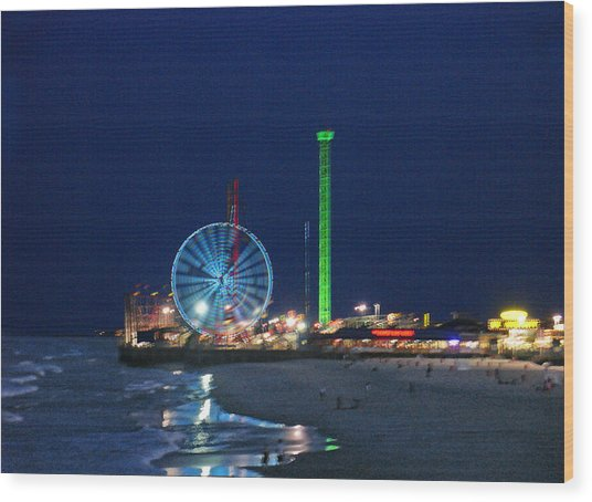 Jersey Shore Wood Print