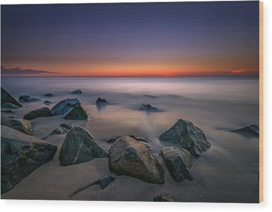 Jersey Shore Tranquility Wood Print