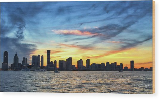 Wood Print featuring the photograph Jersey Skyline by David A Lane