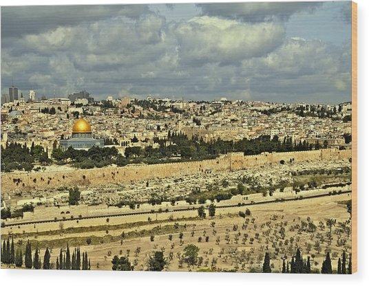 Jerusalem Awaits Her King II Wood Print by Deb Cohen