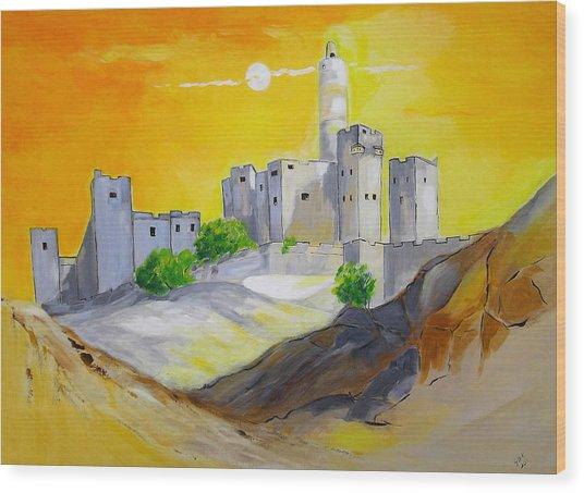 Jerusalem City Of Gold Wood Print