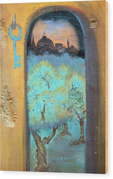 Jerusalem Key Wood Print