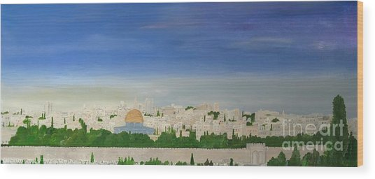 Jerusalem Skyline Wood Print