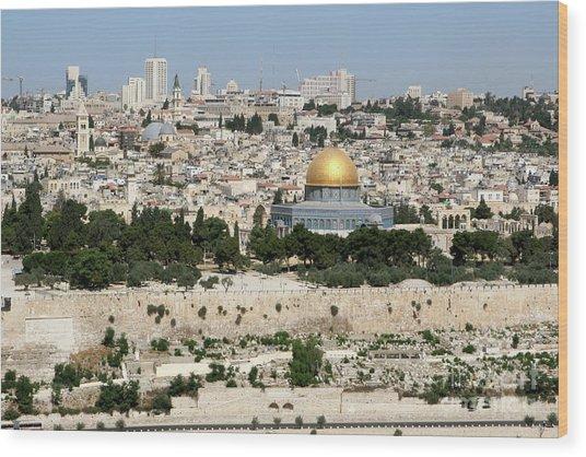 Jerusalem Skyline Wood Print