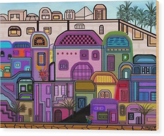 Jerusalem Tapestry Wood Print by Sher Magins
