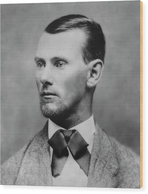 Jesse James -- American Outlaw Wood Print