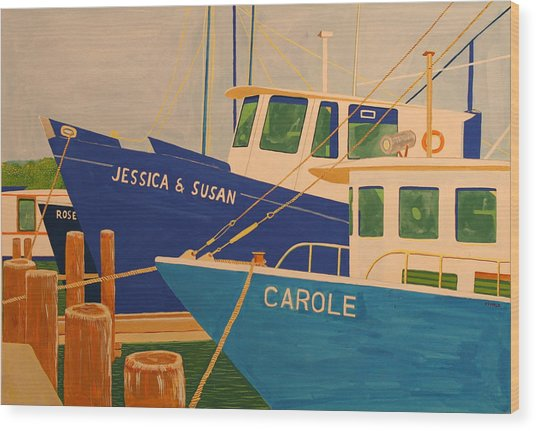 Jessica And Susan Wood Print by Biagio Civale