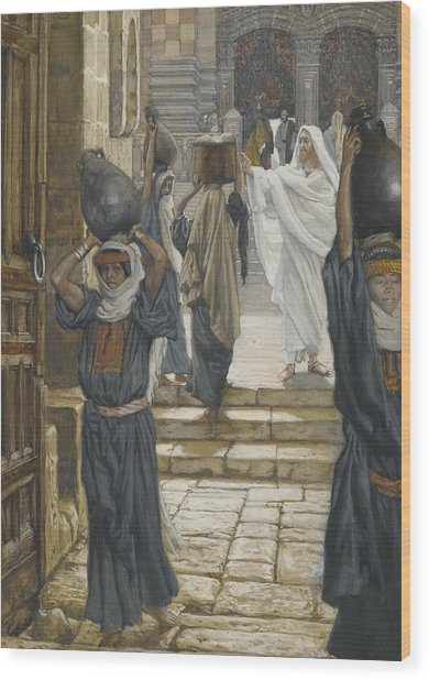 Jesus Forbids The Carrying Of Loads In The Forecourt Of The Temple Wood Print